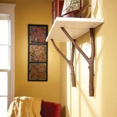 DIY Cottage Shelf with Branches.