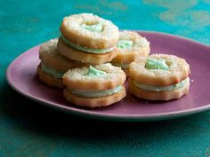 Get Delicate Mint Sandwich Holiday Cookies Recipe from Food Network