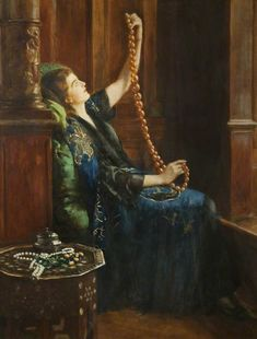 The Athenaeum - The Amber Necklace (John Maler Collier - )