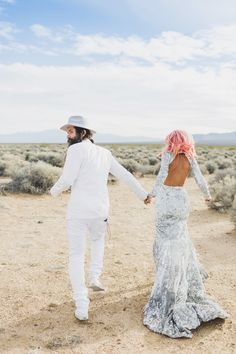 This badass couple eloped in Vegas and it is basically the coolest wedding ever