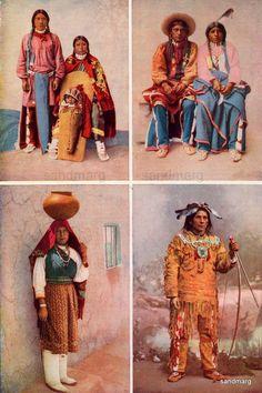 Chart of Native American Peoples  Ute Shoshone Isleta Pueblo Ojibwa Chippewa