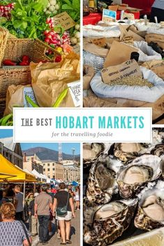 This is where you will find the best markets in Hobart for foodies. Hobart things to do Brisbane, Melbourne, Sydney, Visit Australia, Western Australia, Australia Travel, Travel With Kids, Family Travel, Tasmania Travel