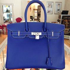 hermes blue birkin bags