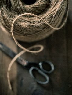 The beauty of vintage scissors and twine