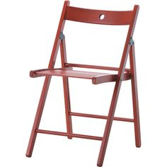 IKEA TERJE Folding chair, red (98960 PYG) ❤ liked on Polyvore featuring home, furniture, chairs, lacquer furniture, red folding chairs, folding furniture, red lacquer furniture and red furniture