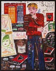 Troy Henriksen - Artist in the Atelier - Acrylique et mixte sur toile - 146 x 114 cm - 2014 - Galerie W - Galerie d'Art contemporain à Paris #galeriew #gallery #w #gallery w #troy-henriksen @galeriew