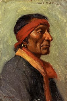 Native American Chief Flat Iron ~by Joseph Henry Sharp ~Via Rick Rietveld Native American Pictures, Native American Artists, Native American History, Native American Indians, Sioux, Cherokee, Native Art, Native Indian, American Indian Art
