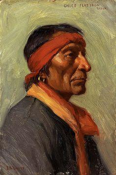Native American Joseph Henry Sharp Chief Flat Iron, via Flickr.