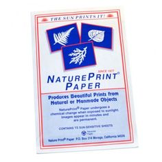 sun sensitive paper! this stuff is great, I did this when I was younger and have been looking everywhere for it!