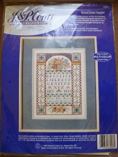Blessed House Sampler/23501/J & P Coats/Counted Cross Stitch Kit /NIP/9 by 12 Frame Size without Mat by BluetreeSewingStudio on Etsy