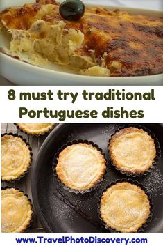 8 must try traditional portuguese dishes - popular Potuguese appetizers, snacks, desserts and main entrees that you will find in Portuguese restaurants, take out places and specialty Portuguese food venues all around the country and worth trying out when you visit Portugal. Check out these delicious Portuguese dishes below for more details and images.  http://travelphotodiscovery.com/8-portuguese-foods-to-try-in-portugal/