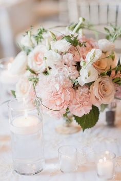 pink wedding flowers - photo by Jenn Kavanagh Photography http://ruffledblog.com/blush-pink-canadian-wedding