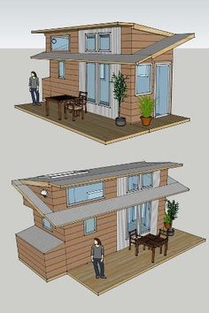 Alek's Tiny House Project I plan to build on an 8×20 foot trailer. My house will feature many windows (including several large, south-facing windows, for passive solar gain). http://tinyhouseblog.com/tiny-house-concept/aleks-tiny-house-project/
