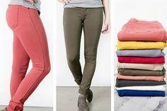 Do you need to spice up your daily uniform? We can help with that! These fun spring colored pants have the perfect slim fit and mid-rise to pair with a blouse or favorite graphic t-shirt. We shouldn't forget the little amount of ponte stretch for extra comfort. The perfect addition to your daily closet choice!