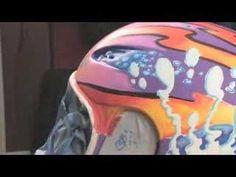 Drew Brophy Paints Motorcycle Helmet
