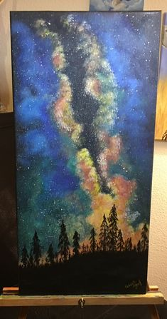 """Starry Night II"" was finished yesterday #ArtIsLife #galaxy #sky #stars #ArtistLife #painting #Art #Artwork #QueenShyArt #Passion ‬#drawing #paint #painter #sketch #sketching #botany #botanical #acrylic #space #homedecor #decor #wallart #fineart #walldecor #paintingoftheday"
