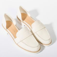 Dorsay Loafers - White - Flats - Shoes | CHARLES & KEITH
