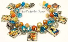 Egyptian Charm Bracelet Jewelry by baublesbeadsncharms, $39.88