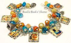 Egyptian Charm Bracelet Jewelry by baublesbeadsncharms, $39.88