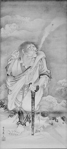 The Daoist Immortal Li Tieguai (Tekkai), Tekkai zu.  Japanese Edo period,  around 1770. Soga Shôhaku (Japanese, 1730–1781)