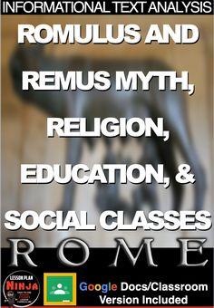 World History Teaching, World History Lessons, Google Docs, Rome, Romulus And Remus, History Lesson Plans, Religion, Social Class, Teacher Blogs