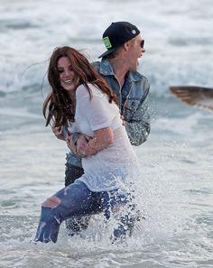 Lana recording 'West Coast' music video at Marina Del Rey, Los Angeles (Apr. 03, 2014)