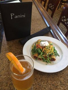 Our delicious chicken flautas and a chilled glass of Blue Moon. One of our many happy hour options at the Panini Restaurant & Lounge inside the Holiday Inn Orange County Airport- Santa Ana, CA.