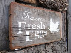 Farm Fresh Eggs Sign Chicken Coop Sign Montana by BearlyInMontana, $25.00