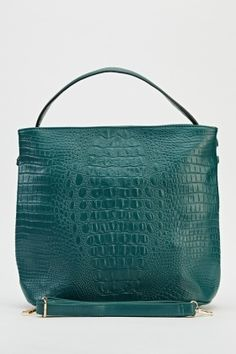 Dark Green Textured Handbag - Just £5 0046d4501b494