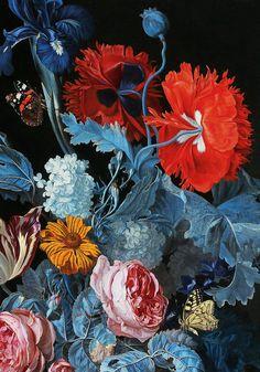 Hendrick de Fromantiou Detail from a still life, century Art Floral, Motif Floral, Art And Illustration, Art Et Nature, Illustration Botanique, Ouvrages D'art, Art Design, Botanical Art, Art Inspo