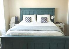 DIY bed frame - perhaps modify to use repurpose two doors.