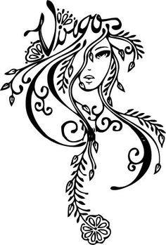15 Virgo Woman Tattoo Designs And Ideas Leo Tattoos, Zodiac Tattoos, Body Art Tattoos, Tribal Tattoos, Tatoos, Horoscope Tattoos, Belly Tattoos, Virgo Horoscope, Celtic Tattoos