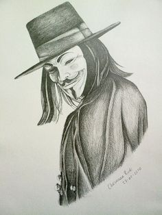 v for vendetta drawing - Google Search