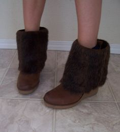 make outdated boots look modern with faux fur