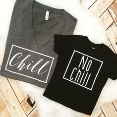 Matching Set Tees and Tank Chill and No Chill by spillthebeansetc
