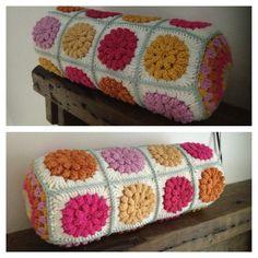 crochet bolster cushion