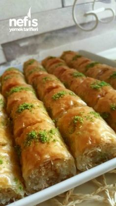 Turkish Baklava, Baklava Recipe, Yummy Food, Tasty, Turkish Delight, Middle Eastern Recipes, Arabic Food, Turkish Recipes, Desert Recipes
