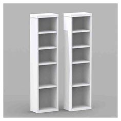 Nexera Liber T Modular Design Your Own Storage And Entertainment System Cd Dvd Towers Set Of 2 White Bookcases At Hayneedle