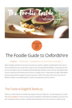 The Foodie Guide to Oxfordshire - Snaptrip Henley On Thames, Uk Holidays, Best Places To Eat, Wonderful Places, Traveling By Yourself, The Good Place, Good Food, Eat Right, Yummy Food