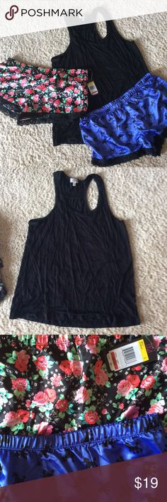 Pj salvage tank and two matching bottoms L xl The top is racerback xl. No tags Bottoms new with tags large. Super soft. Lace trim. Bottoms are poly. PJ Salvage Intimates & Sleepwear Pajamas