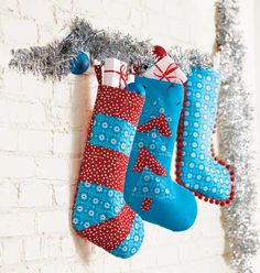 Get started on Christmas Stockings at sewnews.com. FREE pattern, project and templates!