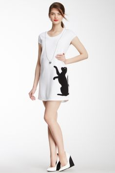 LOVE Moschino Cat & Butterfly sweater dress