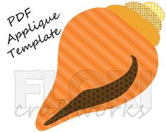 Conch Shell PDF Applique Template Pattern  DIY by FloriCraftworks