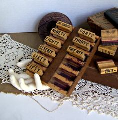 Vintage Mercantile Two Through One hundred Wood by AloofNewfWhimsy, $30.00