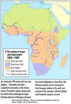 Spread of Islam and Christianity 1860-1900