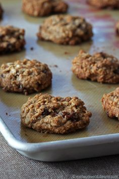 Biscuits à l'avoine et aux raisins, style Dad's / Oatmeal and raisin cookies Coconut Biscuits, Coconut Cookies, Biscuit Cookies, Biscuit Recipe, Summer Pudding, Easy No Bake Cookies, Great British Chefs, Vegetarian Chocolate, No Bake Desserts