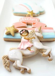 Baby Cookies, Baby Shower Cookies, Cute Cookies, Sugar Cookies, Unicorn Cookies, Cookie Desserts, Biscotti, Cookie Decorating, Birthday Candles