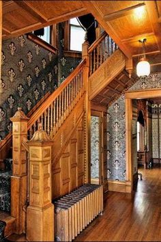 awesome 57 Amazing Old Houses Design Ideas Will Look Elegant Victorian Style Homes, Victorian Interiors, Victorian Furniture, Victorian Decor, Victorian Architecture, Victorian Design, Architecture Details, Victorian Stairs, Retro Furniture