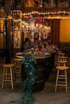 winery romantic reception ideas Romantic Wedding Receptions, Wedding Themes, Wedding Colors, Wedding Decorations, Decor Wedding, Wedding Lighting, Hotel Wedding, Wedding Bride, Cat Wedding