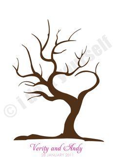 árbol de amor huellas dactilares invitado libro por idoityourself